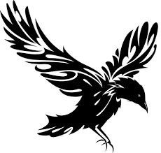 """Résultat de recherche d'images pour """"raven logo tribal"""""""