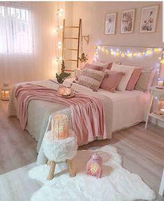 Best 27 Room Decor Bedroom Design Ideas For Your Inspiration Bedroom Decor For Teen Girls, Cute Bedroom Ideas, Room Ideas Bedroom, Home Decor Bedroom, Diy Bedroom, Bedroom Inspiration, Master Bedroom, Couple Bedroom, Small Room Bedroom