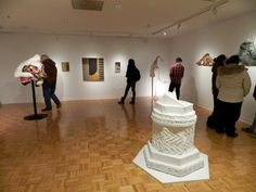 """Installation view of """"The Piero/Leonardo Project: Recent Work by Jay Wholley"""" 