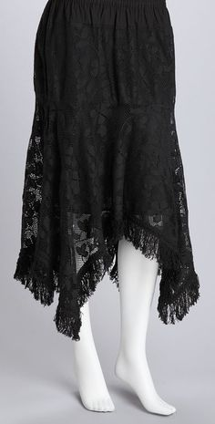 Snag this skirt for some sensational style. The handkerchief hem adds fashionable flair to this lovely staple.Measurements (size M): cottonHand washImported Gothic Fashion, Retro Fashion, Boho Fashion, Boho Outfits, Pretty Outfits, Fashion Outfits, Pretty Clothes, Handkerchief Hem Dress, Asymmetrical Skirt