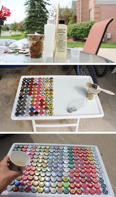 What to do with all your leftover bottle caps?! Check it out! #beerbottle