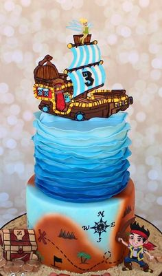 Jake and the Neverland Pirates Themed Cake