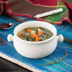 Potato Kale Lentil Soup #kale #potato #lentil #soup