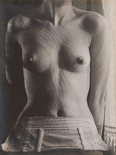 Man Ray, Shadow Patterns on Lee Miller's Torso, ca. 1930