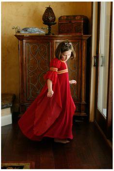 red Wisteria dress