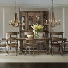 Lowest price online on all Hooker Furniture Sorella Rectangular Dining Table with Leaves in Brown - 5107-75206