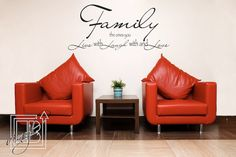 Family Wall Decal Quote - Wall Decal Quote - Vinyl Word Art