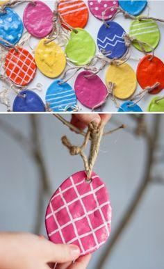 Salt dough Spring Easter Egg Craft for Kids