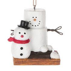 2016 S'mores Building a Snowman Ornament