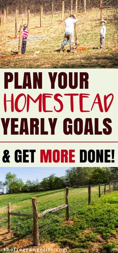 Self Sufficient Homestead: Get more done on your homestead with this goal planner. Make progress in the time you have!