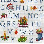 Alfabetos de natal Lindos alfabetos de natal em ponto cruz para lindos bordados para a festa natalina! Decore seus panos de pratos, guardanapos, toalhas, com monogramas de natal...