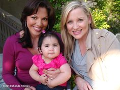 """""""Shondaland's photo: I FOUND IT!  It took me a moment.   We had to hunt it down.  But FINALLY, per your request, I present to you here the coveted photo of Callie, Arizona and Sofia that resides in the Torres/Robbins bedroom!"""""""
