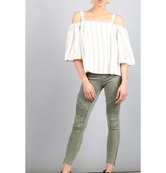 Want a Moto Style Pant bad. Black or Olive. Linen Pants, Khaki Pants, Motto Leggings, Stretch Denim Fabric, Soft Shorts, Moto Style, Skinny Pants, Stitch, Colors