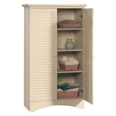 Sauder Harbor View Storage Cabinet - Antiqued White