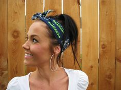 Items similar to Seattle Seahawks Dolly Bow Reversible Pinup Rockabilly Dolly Bow Twist Tie Up Hawks Headband Headscarf Hair Band Head Wrap Accessories on Etsy Fabric Print Design, Pin Up Style, Seattle Seahawks, Vintage Pins, Head Wraps, Hair Band, Rockabilly, Printing On Fabric, The Help
