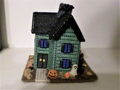 Halloween Village,Haunted  House Halloween Miniature ,Victorian House ,  Halloween Decoration. One Of A Kind, OOAK. On  Ghostap Lane Halloween Haunted Houses, Halloween House, Halloween Themes, Halloween Crafts, Halloween Decorations, Halloween Village Display, Christmas Village Sets, Scrapbook Expo, Special Birthday Gifts