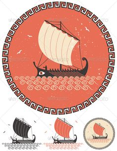 Odysseus - schip  van de Achaërs