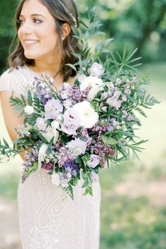Lavender Wedding Theme, Purple Wedding Bouquets, Bride Bouquets, Floral Wedding, Wedding Colors, Lavender Weddings, Green Purple Wedding, Lavender Wedding Decorations, Diy Wedding Bouquet