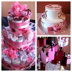 Diaper Cake, Cake, and a Guest List Tree! Baby Shower Food List, Baby Shower Cakes, Baby Shower Gifts, Cherry Blossom Decor, Cherry Blossoms, Free Baby Shower Printables, Baby Shower Photo Booth, Gender Neutral Baby Shower, Cake Videos