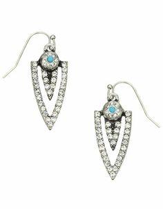 Encrusted Spike Earrings