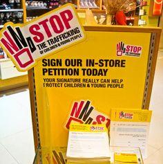 The Body Shop faz campanha contra o tráfico de pessoas