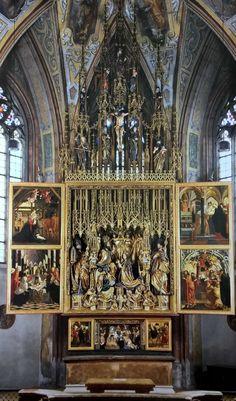 Hochaltar Wallfahrtskirche St. Wolfgang im Salzkammergut, fertiggestellt 1481, Michael Pacher