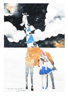 mii and the strange giraffe by kawako198.deviantart.com on @deviantART