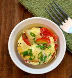 Tortino di uova strapazzate al microonde in 1 minuto