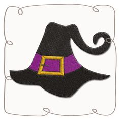 Great Halloween Designs from the Sulky Embroidery Club - Express Yourself with Sulky Machine Embroidery Projects, Machine Embroidery Applique, Embroidery Fonts, Embroidery Patterns, Hand Embroidery, Halloween Hats, Halloween Designs, Felt Crafts, Color Splash