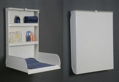 http://www.goodshomedesign.com/wall-mounted-baby-changing-tables/creative-wall-mounted-baby-changing-tables-4/