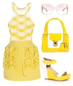 """""""Lemonade"""" by juliehalloran ❤ liked on Polyvore featuring STELLA McCARTNEY, Delpozo, Louis Vuitton and Valentino"""