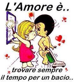 Risultati immagini per vignette l'amore è in italiano Love Is Cartoon, Cartoons Love, Cute Love, I Love You, My Love, Romantic Men, Italian Quotes, Holly Hobbie, Emotional Intelligence