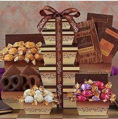 Godiva Milk And Dark Chocolate Tower: Godiva Milk And Dark Chocolate Tower     This Godi...