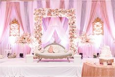 Vaseem + Nayya's Blush and Grey Valima – Photography by Azra Reception Stage Decor, Wedding Backdrop Design, Desi Wedding Decor, Wedding Hall Decorations, Wedding Stage Design, Wedding Reception Backdrop, Backdrop Decorations, Indian Reception, Backdrops
