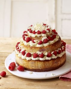 If you want a dessert for a large party, then look no further. Mary Berry's pretty triple cheesecake can be made in advance and decorated on the day