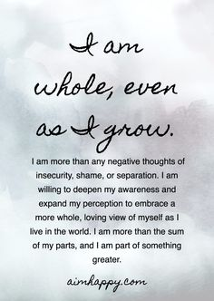 """This affirmation for healing is a reminder that we are enough as we are; we are whole as individuals and, in believing this truth, we're able to share our love and light unconditionally, wholeheartedly with others. """"A human being is a part of the. Change Quotes, Love Quotes, Inspirational Quotes, Love And Light Quotes, Quotes Quotes, Peace Quotes, Gratitude Quotes, Uplifting Quotes, Crush Quotes"""