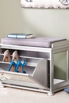 HauteLook | Contemporary Furniture & Decor Updates: Mirrored Shoe Bench