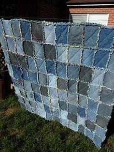 Een quilt gemaakt van oude spijkerbroeken staat nog op m'n to-do lijst!