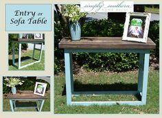 Good Rustic Entry Table ~ Custom Built ~ Handmade ~ Simply Southern Home Decor