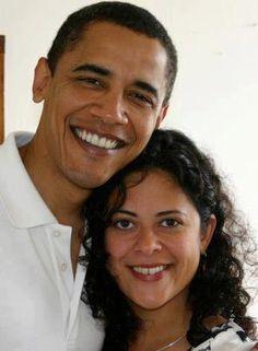 President Barack Obama and his sister