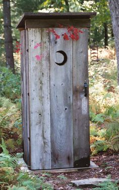 Oh My Gosh this looks almost identicle to the outhouse at my grandparents old deer c& & Old outhouse door with moon. How appropriate. | Outhouses ... Pezcame.Com