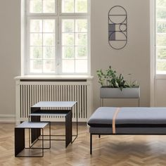Ferm Living's Cluster tables feature thin and delicate metal frame…