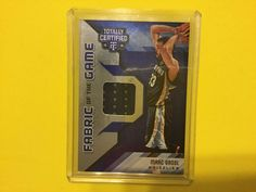 2015/16 Totally Certified Fabric Of The Game MARC GASOL 25/99 #MemphisGrizzlies