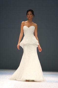 Trendy A chic peplum wedding dress by Roz la Kelin