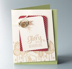 Love this card made with the Newborn King stamp set
