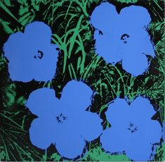 "Andy Warhol's ""Flowers,"" one of only 4 dated 1978 Flowers paintings know to the Andy Warhol Foundation for the Visual Arts."