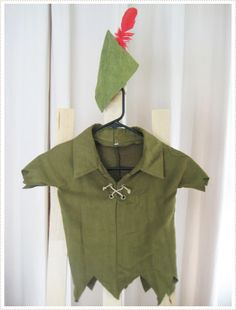 Peter Pan Costume out of a repurposed men's shirt