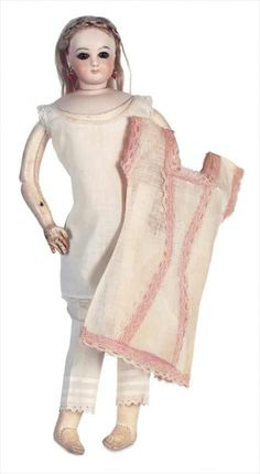 A Cherished Collection - Madame Andrée Petyt: 266 French Bisque Poupee by Jumeau with Original Chemise