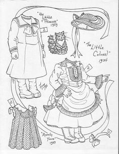 7 Best Shirley Temple Coloring Pages Images Paper Dolls Printable