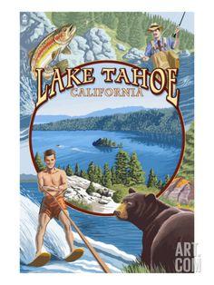 Lake Tahoe, CA Summer Views Print at Art.com